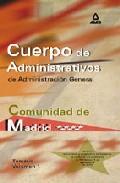 Portada de CUERPO DE ADMINISTRATIVOS DE ADMINISTRACION GENERAL: TEMARIO