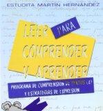 Portada de LEER PARA COMPRENDER Y APRENDER: PROGRAMA DE COMPRENSION DE TEXTOS Y ESTRATEGIAS DE EXPRESION