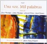 Portada de UNA VOZ. MIL PALABRAS (+CD)