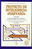 Portada de PROYECTO DE INTELIGENCIA HARVARD, SERIE IV: RAZONAMIENTO VERBAL