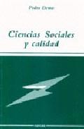 Portada de CIENCIAS SOCIALES Y CALIDAD