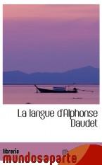 Portada de LA LANGUE D`ALPHONSE DAUDET