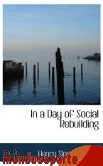 Portada de IN A DAY OF SOCIAL REBUILDING