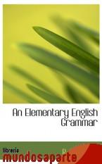 Portada de AN ELEMENTARY ENGLISH GRAMMAR