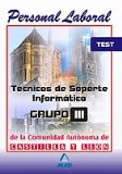 Portada de TECNICOS DE SOPORTE INFORMATICO DE LA COMUNIDAD DE CASTILLA Y LEON. TEST