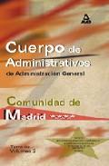 Portada de ADMINISTRATIVOS DE LA COMUNIDAD DE MADRID: TEMARIO