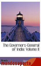 Portada de THE GOVERNORS-GENERAL OF INDIA: VOLUME II