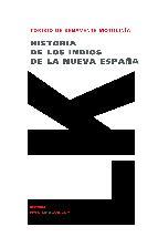 Portada de HISTORIA DE LOS INDIOS DE LA NUEVA ESPAÑA (EBOOK)