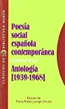 Portada de POESIA SOCIAL ESPAÑOLA CONTEMPORANEA: ANTOLOGIA