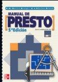 Portada de MANUAL DE PRESTO