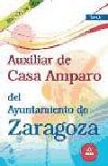 Portada de AUXILIAR DE CASA AMPARO DEL AYUNTAMIENTO DE ZARAGOZA. TEST