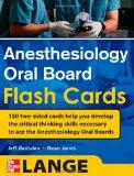 Portada de ANESTHESIOLOGY ORAL BOARD FLASH CARDS