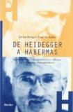 Portada de DE HEIDEGGER A HABERMAS