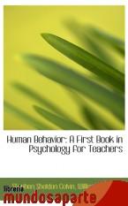 Portada de HUMAN BEHAVIOR: A FIRST BOOK IN PSYCHOLOGY FOR TEACHERS
