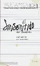 Portada de EL SINSENTIDO DEL SENTIDO (EBOOK)