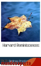 Portada de HARVARD REMINISCENCES