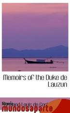 Portada de MEMOIRS OF THE DUKE DE LAUZUN