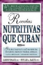 Portada de RECETAS NUTRITIVAS QUE CURAN