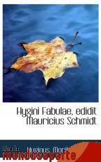 Portada de HYGINI FABULAE, EDIDIT MAURICIUS SCHMIDT