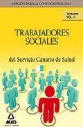 Portada de TRABAJADORES SOCIALES DEL SERVICIO CANARIO DE SALUD. TEMARIO.VOLUMEN II