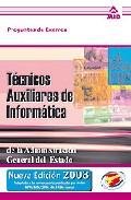Portada de TECNICOS AUXILIARES DE INFORMATICA: PREGUNTAS DE EXAMEN