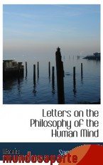 Portada de LETTERS ON THE PHILOSOPHY OF THE HUMAN MIND