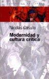 Portada de MODERNIDAD Y CULTURA CRITICA