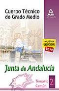 Portada de CUERPO TECNICO DE GRADO MEDIO DE LA JUNTA DE ANDALUCIA. TEMARIO COMUN. VOLUMEN II