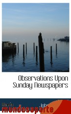 Portada de OBSERVATIONS UPON SUNDAY NEWSPAPERS