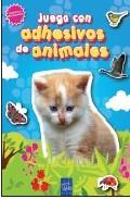 Portada de JUEGA CON ADHESIVOS DE ANIMALES. AZUL