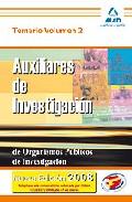 Portada de AUXILIARES DE INVESTIGACION DE ORGANISMOS PUBLICOS DE INVESTIGACION. TEMARIO