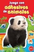 Portada de JUEGA CON ADHESIVOS DE ANIMALES. ROJO