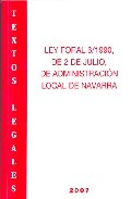 Portada de LEY FORAL 6/1990 DE 2 DE JULIO, DE ADMINISTRACION LOCAL NAVARRA