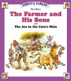 Portada de THE FARMER AND HIS SONS: AND THE ASS IN THE LION'S SKIN (AESOP'S FABLES)