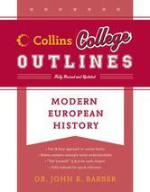 Portada de MODERN EUROPEAN HISTORY