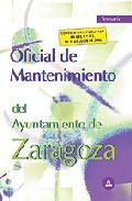 Portada de OFICIAL DE MANTENIMIENTO DEL AYUNTAMIENTO DE ZARAGOZA