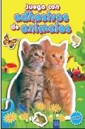 Portada de JUEGA CON ADHESIVOS DE ANIMALES. AMARILLO