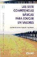 Portada de LAS SIETE COMPETENCIAS BASICAS PARA EDUCAR EN VALORES