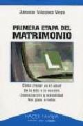 Portada de PRIMERA ETAPA DEL MATRIMONIO