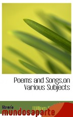 Portada de POEMS AND SONGS,ON VARIOUS SUBJECTS