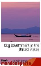 Portada de CITY GOVERNMENT IN THE UNITED STATES