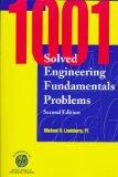 Portada de 1001 SOLVED ENGINEERING FUNDAMENTALS PROBLEMS