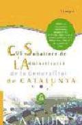 Portada de COS SUBALTERN DE L ADMINISTRACIO DE LA GENERALITAT DE CATALAUNYA TEMARI