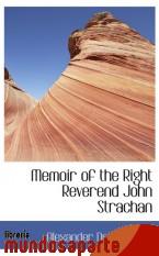 Portada de MEMOIR OF THE RIGHT REVEREND JOHN STRACHAN