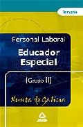 Portada de EDUCADOR ESPECIAL DE LA XUNTA DE GALICIA: TEMARIO