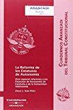 Portada de REFORMA ESTATAL AUTONOMIA REFERENTE CATALUÑA - VALENCIA