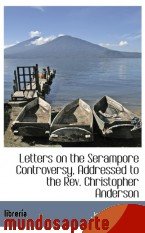 Portada de LETTERS ON THE SERAMPORE CONTROVERSY, ADDRESSED TO THE REV. CHRISTOPHER ANDERSON