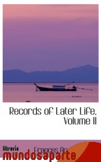 Portada de RECORDS OF LATER LIFE, VOLUME II