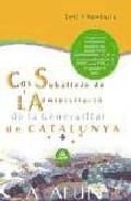 Portada de COS SUBALTERN DE L ADMINISTRACIO DE LA GENERALITAT DE CATALUNYA TEST I SUPOSITS