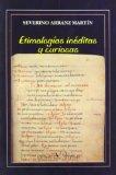 Portada de ETIMOLOGÍAS INÉDITAS Y CURIOSAS